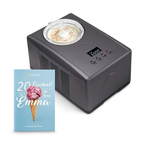 RESULTADOS PERFECTOS: en tan solo 45 minutos, esta maquina de hacer helados produce hasta 1,5 litros de helado cremoso, sorbete, parfait, helado suave o incluso yogur helado (Frozen Yogurt) sin congelación previa. POTENTE: gracias a su compresor inte...