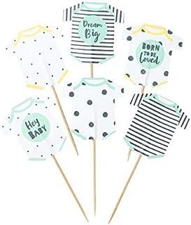 Miss Lovely 12 Cupcake-Sticks/Kuchen-Stecker/Muffin-Deko-Picker Born to BE Loved Holz-Stäbchen Baby-Party Baby-Shower-Party Taufe Geburt Mädchen Junge