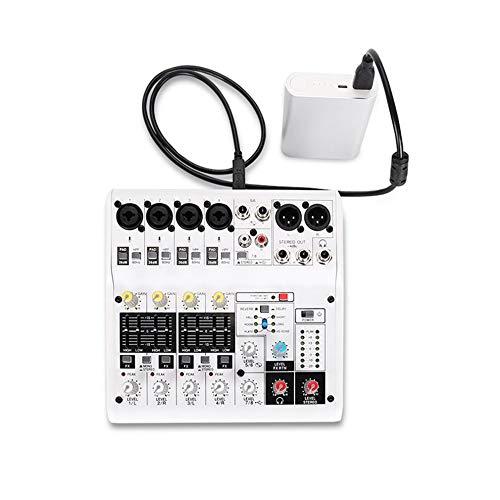 DDSHYNH 8-Kanal-Soundkarte Digital Audio Mixer Mischpult Eingebaute Unterstützung Stromversorgung über Netzteil USB-Kabel