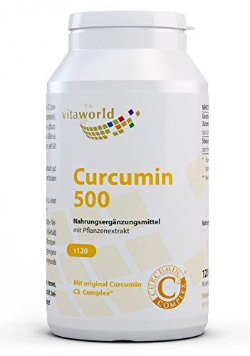 Vita World Curcumin 500 120 Vegi Kapseln Curcumin C3 Complex® Apotheker-Herstellung 95 {493dd983075f7c035ee02521dec8e9d48fde7a9f3abfa0be5c673ba9fd880e18} Curcuminoide schwarzer und Pfeffer Extrakt 50:1 Curcuma-Wurzelextrakt Curcuma