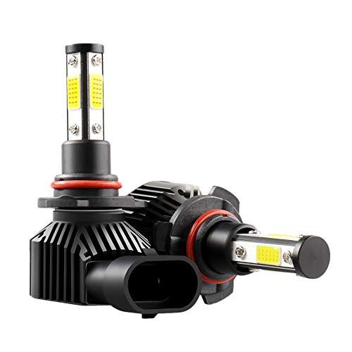 Tamkyo Bombilla LED para Faros Delanteros del Coche 360 Grados 6000K 14000LM LáMpara de Luz de Cabeza de Alto Brillo Enchufe Luz de Niebla (9006)