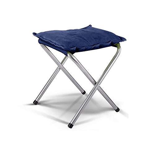 YQQ-Chaise pliante De Plein Air Tabouret De Pêche Portable Acier Coton Doux 36 * 35CM (Couleur : Bleu)