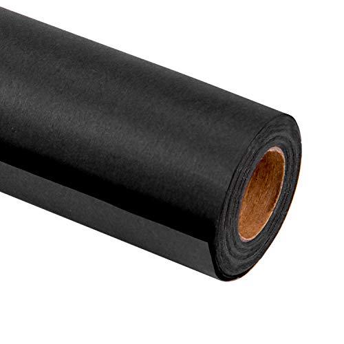 RUSPEPA schwarzes Kraftpapier - schweres Papier für Hochzeit, Geburtstag, Dusche, Congrats und Feiertags-Geschenke - 76Cm X 10M pro Rolle
