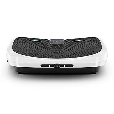 Vibra Pro M7 Revolutionary 4D Vibration Exercise Machine - 3 Motor Technology, 7 Vibration Modes, Wrist Remote Control, Bluetooth Speakers. Home Gym & Fitness Vibrating Platform for The Whole Body
