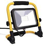 kwmobile Projecteur LED Extérieur 20W - Lampe de Chantier 2000 lm Éclairage 6500K Blanc Froid - Spot pour Garage Jardin Terrasse ou Intérieur