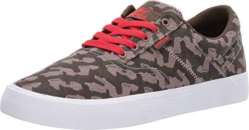 Supra Men's Skateboarding Shoes, Multicolour Camo Risk Red White M 362, 12 UK