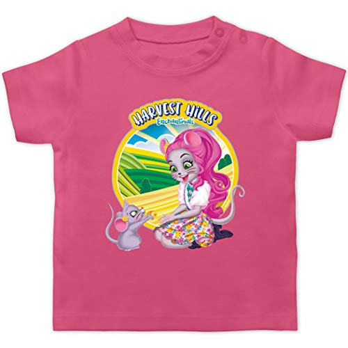 Enchantimals Baby - Harvest Hills - Mayla Mouse - 18/24 Monate - Pink - Mayla Mouse & Fondue - BZ02 - Baby T-Shirt Kurzarm