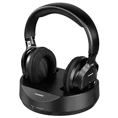 Thomson Radio UHF Wireless Headphones - Black