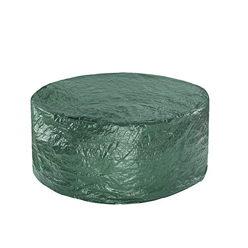 Greenbay Round Garden Furniture Cover Dustproof Anti-UV Polyethylene Cover for Patio Outdoor Table and Chair Dining Set (Diameter:130cm Height:89cm)