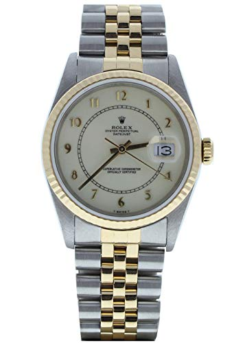 Rolex Mens Datejust 16233 Jubilee Cream Arabic Dial (Certified-Preowned)