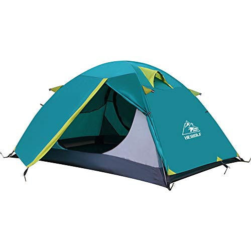 HEWOLF 2 Man Lightweight Backpacking Tent - Waterproof Dome Tent Windproof Camping Hiking Tent 1-2...