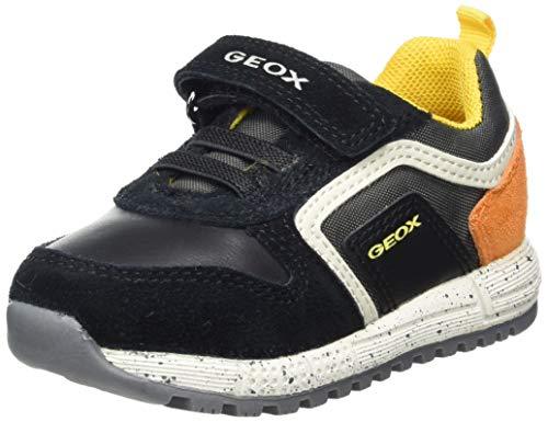 Geox B ALBEN Boy C, Scarpe da Ginnastica Bimbo 0-24, Multicolore (Black/Orange), 22 EU