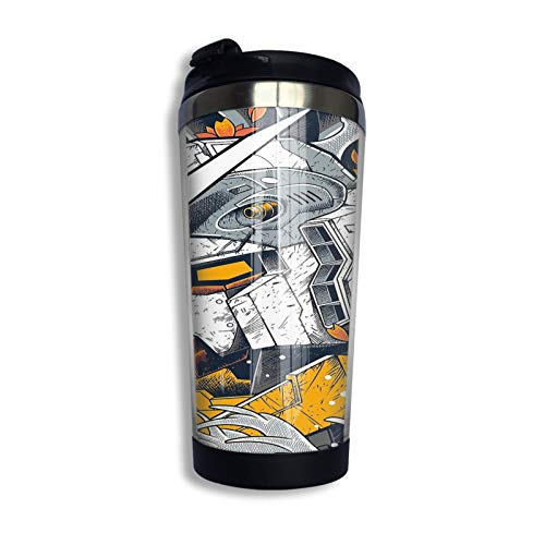 Gundam Travel Mug Coffee Cup Stainless Steel Vacuum Insulated Tumbler 13.5 Oz