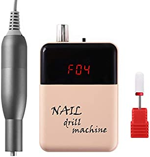 Lumcrissy Electric Portable Nail Drill,Nail File Machine For Acrylic Nails, Manicure Pedicure Kit Handpiece Grinder for Ac...
