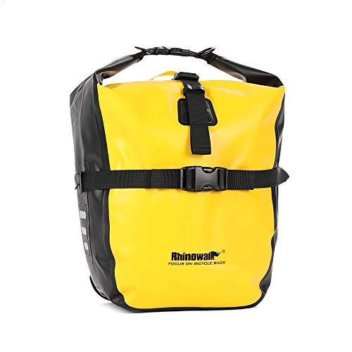 Volkcam Fahrradtasche 20L Packsack Fahrradtasche für den Rücksitz wasserdichte Aufbewahrungstasche für Fahrräder Umhängetasche mit Gummigriff - Gelb