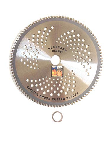 """3pk-9""""-100t -- Multi-Use Brush Specialty -- RENEGADE BLADE - Carbide Brush Cutter weed eater Blades, 230mm diameter"""