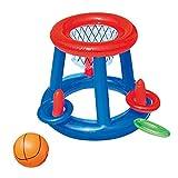 gousheng Juego De Juego De Voleibol De Piscina Inflable con Redes Ajustables Flotantes De Juegos De Voleibol para Adultos Y NiñOs