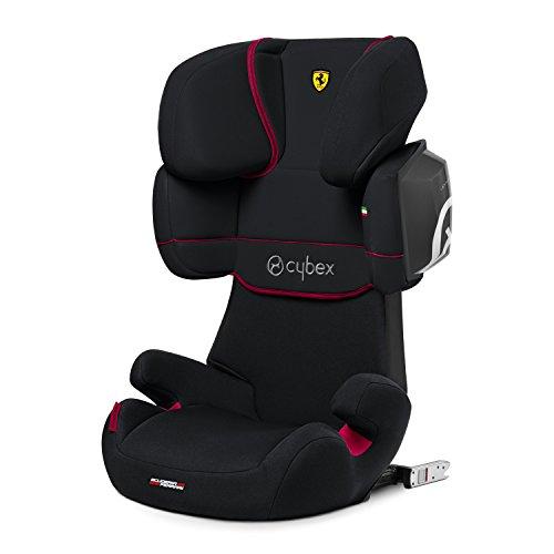 CYBEX Silver Kinder-Autositz Solution X2-Fix Scuderia Ferrari, Für Autos mit und ohne ISOFIX, Gruppe 2/3 (15-36 kg), Ab ca. 3 bis ca. 12 Jahre, Victory Black