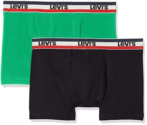 Levi's Herren Levis 200SF SPRTSWR Logo Color Boxer Brief 2P Boxershorts, Mehrfarbig (Island Green 506), Medium (Herstellergröße: M) (2er Pack)