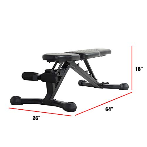 CAP Barbell Black/Gray CAP Adjustable Utility Weight Bench