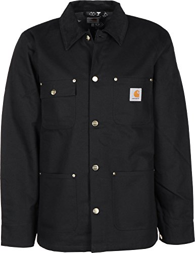 Carhartt Michigan Chore Coat Blouson, Noir (Black Rigid), M Homme
