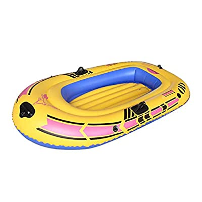 Kayak 1/2/3-Person Inflatable Dinghy Boat Kayak Set, Inflatable Boat Blow Up Raft Set with Oars and Foot Pump for Beach Fishing Lake Rafting