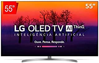 Smart TV OLED Ultra HD 4K com Inteligência Artificial ThinQ AI, WI-FI e Controle Smart Magic, LG, OLED55B8SSC, 55""