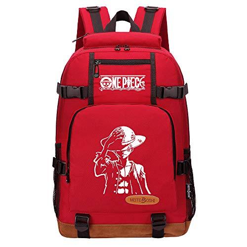 CXWLK Mochila Escuela Multifuncional Gran Capacidad Bolso Mochila De Viaje para Universidad Bag Gran Capacidad Mochila De Gran Capacidad,One Piece,Red,46cmX29cmX13cm