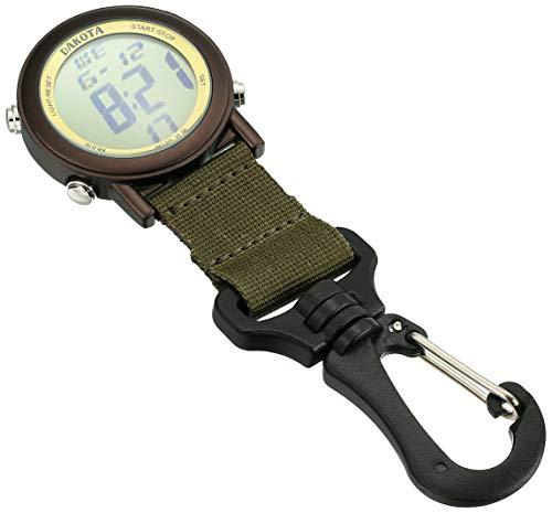 28821 Dakota Digital Backpacker Carabiner Clip Watch Green