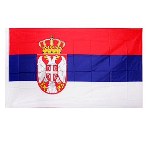 KESOTO Serbien Flagge 90 x 150 cm