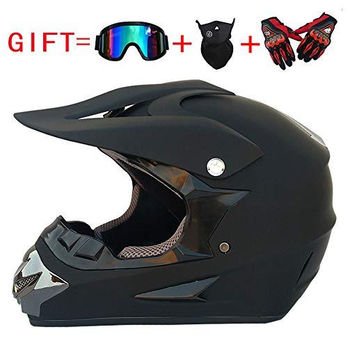 Volwassen DOT goedgekeurde motorhelm motorcross helm ATV scooter helm met bril off-road handschoenen en een masker