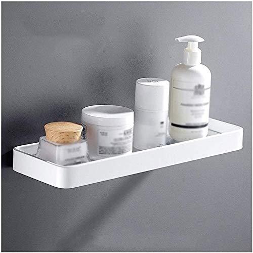 Towel bar Praktische Floatglas-Regalfläche Aluminium Glas Regale Platz Badezimmer und Küche Rack Wand befestigten Drilling Weiß Eloxieren 18 Zoll 01-29 (Size : 45cm)