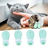 Snufeve6 4Pcs / Set Protector de Pata de Mascota, Protector de Pata de Gato, para protección de Pata de Gato Resistente a los arañazos