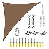 Seedfinsh Tenda Parasole 2.4x2.4x2.4m Tettoia per Vela Blocco UV Resistente al Sole per Giardino Tetto Decking attività Giardino