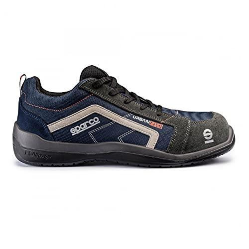 Sparco 0751843BMGR Zapatillas, Azul/Gris, 43