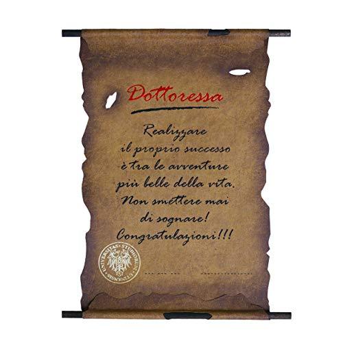 Biglietto Pergamena Laurea (DOTTORESSA)