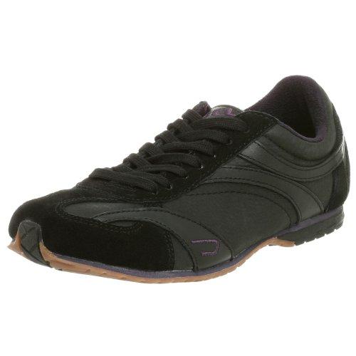 Diesel Women's Baffin Lace-up Fashion Sneaker, Black, 9 M