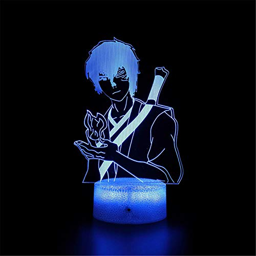 3D Night Light Illusion Mood Lamp Avatar The Last Airbender A 16 Colors Auto Changing Touch Switch Desk Decoration Lamps Birthday Gift