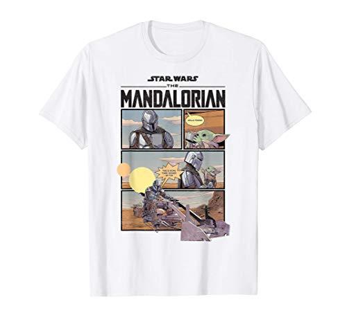 Star Wars The Mandalorian Comic Panels T-Shirt