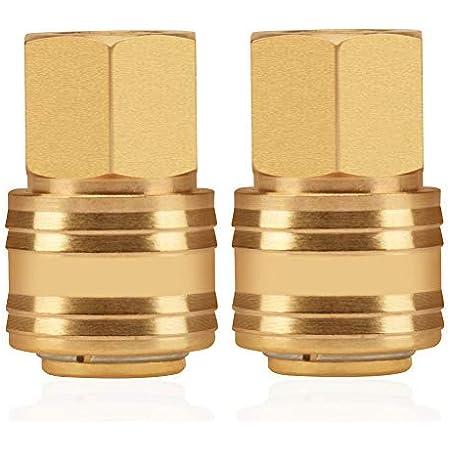 Argento DEWIN Connettore g1//4 Raccordo a 2 tocchi 2 Pezzi connettore G1//4 in Ottone Flessibile Connettore Accessori per Sistema di Raffreddamento ad Acqua per PC