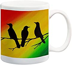 Three Little Birds Coffee Mug 11 oz Ceramic Mug Song Lyric Art Coffee Cup
