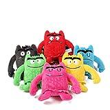 Nye Un Juego de 6 muñecos de Monstruos emocionales, un Juguete de Felpa Que Puede calmar Las emociones de los niños, el Material de Felpa es más Suave, Adecuado para niños de 3 a 6 años, 6 Colores