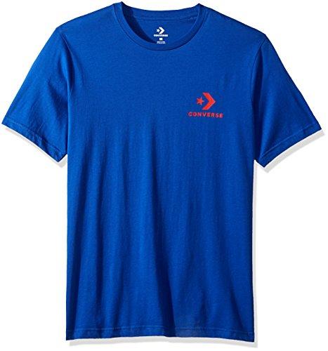 Converse Left Chest Star Chevron Tee Blue T-Shirt, Herren, Blau (Converse Blue) M Converse Blau