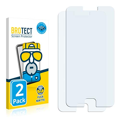 BROTECT Full-Cover Schutzfolie Matt kompatibel mit Meizu M3 Note (2 Stück) - Full-Screen Bildschirmschutz-Folie, 3D Curved, Anti-Reflex