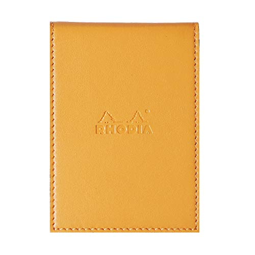 Rhodia Notepad with Cover, A7, Squared - Orange, 84 x 115 mm (118118C)