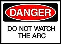 ヴィンテージルックおかしい金属錫サインインチ、アーク危険サインを見ないでください、金属プラーク警告サイン鉄の絵画バーカフェガーデンベッドルームオフィスホテルのアート装飾