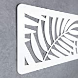 MEGADECOR Cabecero Cama PVC 10mm 3D Decorativo Económico. Brazil (200cm x 60cm, Blanco)