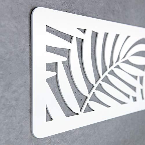 MEGADECOR Cabecero Cama PVC 10mm 3D Decorativo Económico. Brazil (150cm x 60cm, Blanco)