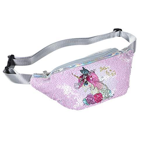 Vssictor Einhorn Meerjungfrau Pailletten Tasche Glitzer Taille Tasche Crossbody Brusttasche für Kinder Erwachsene