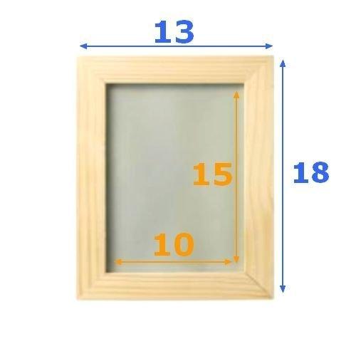 IKEA bemalbarer Holz-Bilderrahmen 2-er Set Albrunna Bastelrahmen Holzrahmen in Natur - bruchsichere Abdeckung - 13x18 (10x15) cm